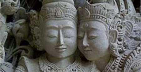 Liefdevol beeld Khajuraho India - Tantra tempel