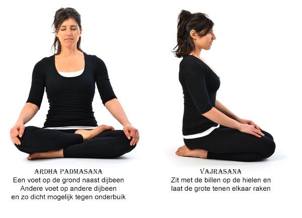 Zit Asana's - ArdhaPadmasana & Vajrasana