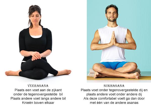 Zit Asana's - Veerasana & Sukhasana