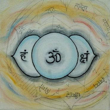 Ajna 3de Derde Oog 6de Chakra Sri Shri Yantra Aum Ohm Om Ang
