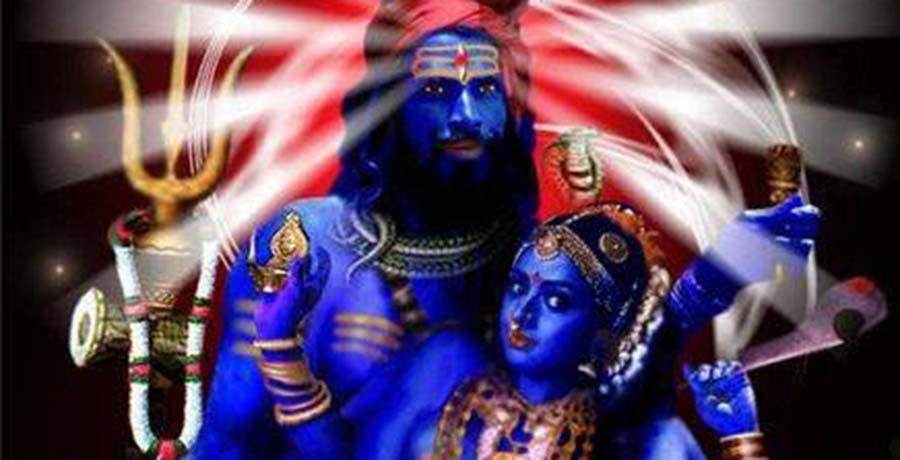 Krama Tantrik Kashmir - Blue Shiva&Goddess India - Tantra tempel