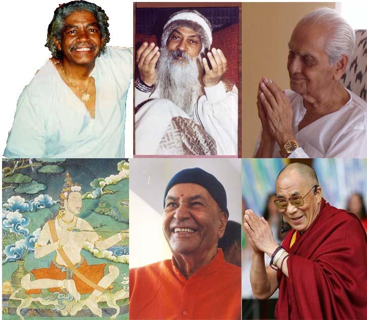 Enkele Tantra en Advaita Vedanta Meesters tijdens het Pad van Nirav