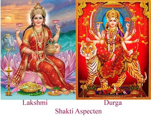 Aspecten van Shiva - Lakshmi - Durga