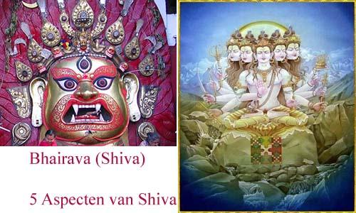 Aspecten van Shiva - Bhairava - de vijf aspecten