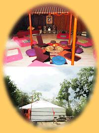 Tantrisch Tantra yurt voor groepen bij de TantraTempel