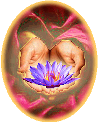 Tantra Lotusbloem in vergevende handen