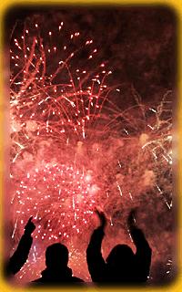 Vuurwerk bij de TantraTempel Oud en Nieuw feest party
